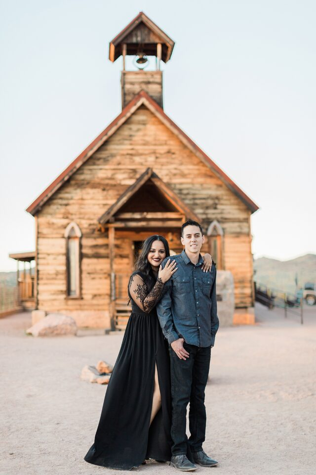 Goldfield Ghost Town Couples Anniversary Engagement Photography Arizona